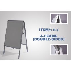 A-Frame (Double-Sided) - #H3 (Hardware Only)