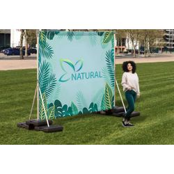 Outdoor Back Drop Stand 8' x 10' (water base)