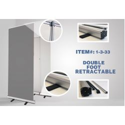 "Double Foot Retractable - 33"" x 81"" (10pcs box) STAND ONLY"
