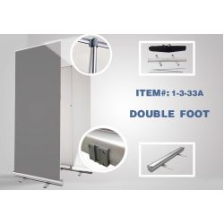 "Adjustable Double-Foot Retractable - 33"" x 81"" - (10pcs in box) STAND ONLY"